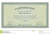 Vintage Frame Or Certificate Template Stock Vector inside Free Stock Certificate Template Download