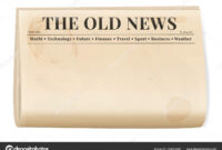Vintage Newspaper Template. Folded Cover Page Of A News in Old Blank Newspaper Template