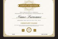 Vintage Retro Art Deco Frame Certificate Template Within Art Certificate Template Free