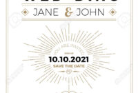 Vintage Wedding Invitation Card A5 Size Frame Layout Print Template within Wedding Card Size Template