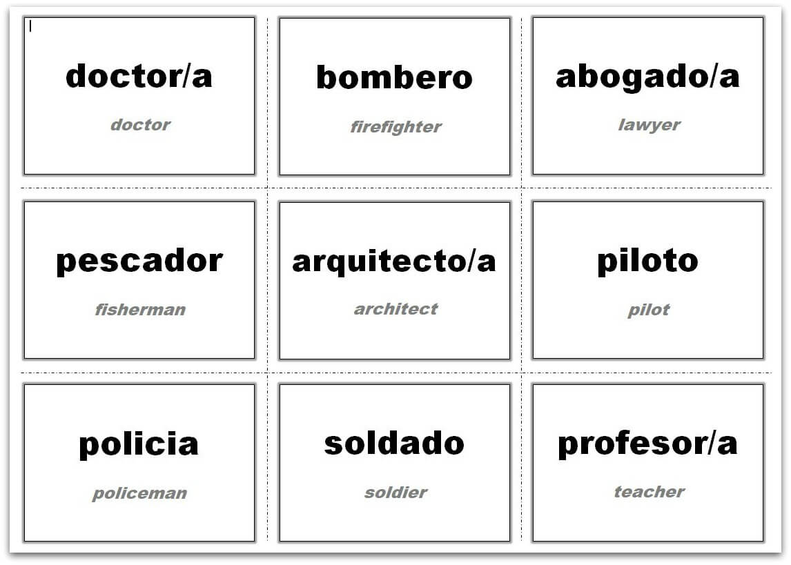 Vocabulary Flash Cards Using Ms Word Within Flashcard Template Word