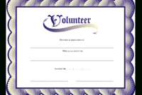 Volunteer Certificate | Templates At Allbusinesstemplates throughout Volunteer Certificate Template