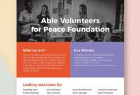 Volunteer Flyer | Flyer Template, Booklet Template, Party Flyer regarding Templates For Flyers In Word