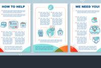 Volunteering Activity Brochure Template Layout Take in Volunteer Brochure Template