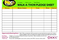 Walk-A-Thon Pledge Sheet – Google Search | School for Church Pledge Card Template