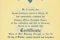 War Stories Of An Armed Savage – Part 13: Awards with Army Good Conduct Medal Certificate Template