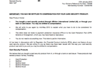 Warning: Don't Throw Sentinel Redress Letters Away with Ppi Claim Letter Template For Credit Card