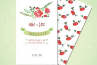 Watercolor Card Templates For Wedding Invitation Save The Date.. pertaining to Save The Date Cards Templates