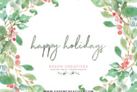 Watercolor Christmas Card Clipart Adobe Illustrator, Paint within Adobe Illustrator Christmas Card Template