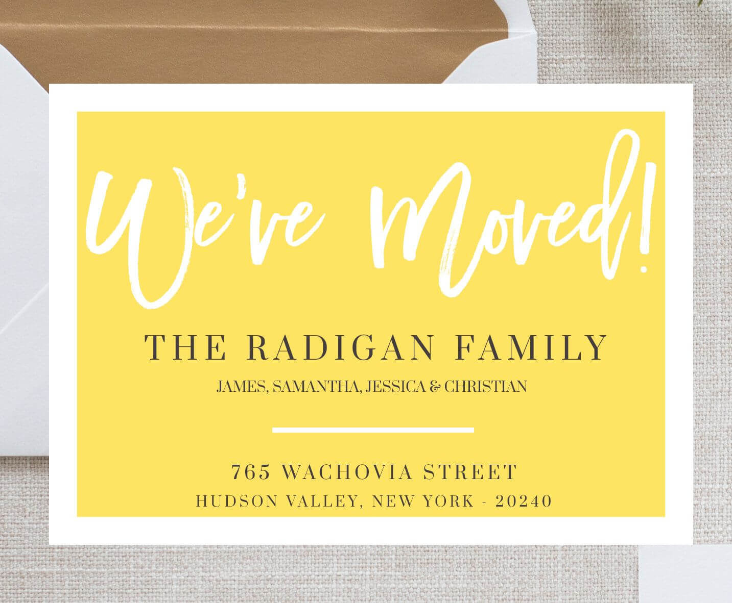 We Moved Card Template Moving Announcement Card We've For Moving Home Cards Template