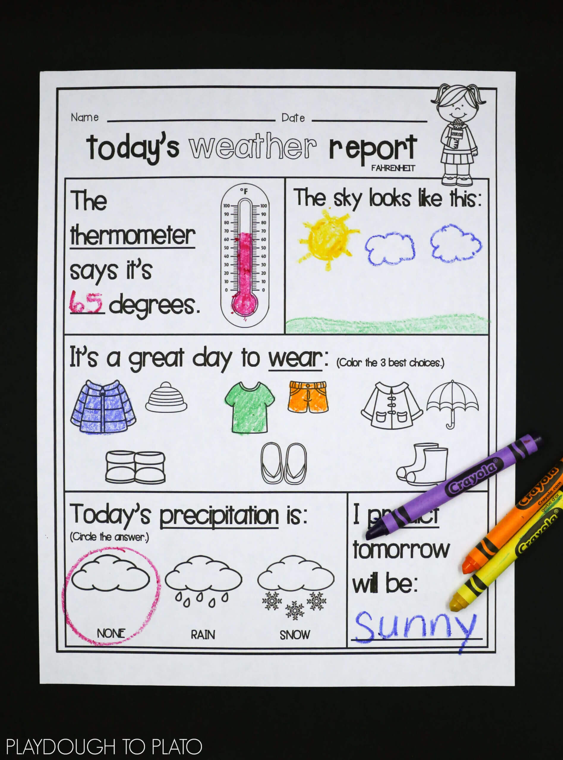 Weather Activity Pack | Teaching Weather, Weather Intended For Kids Weather Report Template