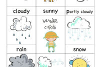 Weather Cards- Would Be Fun To Have A 'weather Man/girl inside Kids Weather Report Template