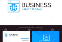 Web, Design, Internet, Globe, World Blue Business Logo And intended for Google Search Business Card Template