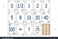 Web Print Concept Illustration Agile Scrum Stock Image regarding Planning Poker Cards Template