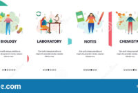 Web Site Onboarding Screens. Science Experiment. Chemistry for Science Fair Banner Template