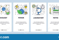 Web Site Onboarding Screens. Science Experiment In Lab inside Science Fair Banner Template