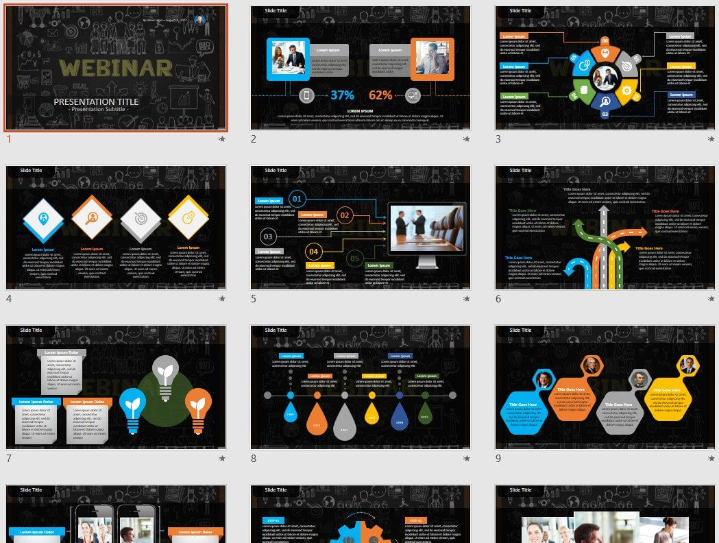 Webinar Powerpoint Template #130401 With Regard To Webinar Powerpoint Templates
