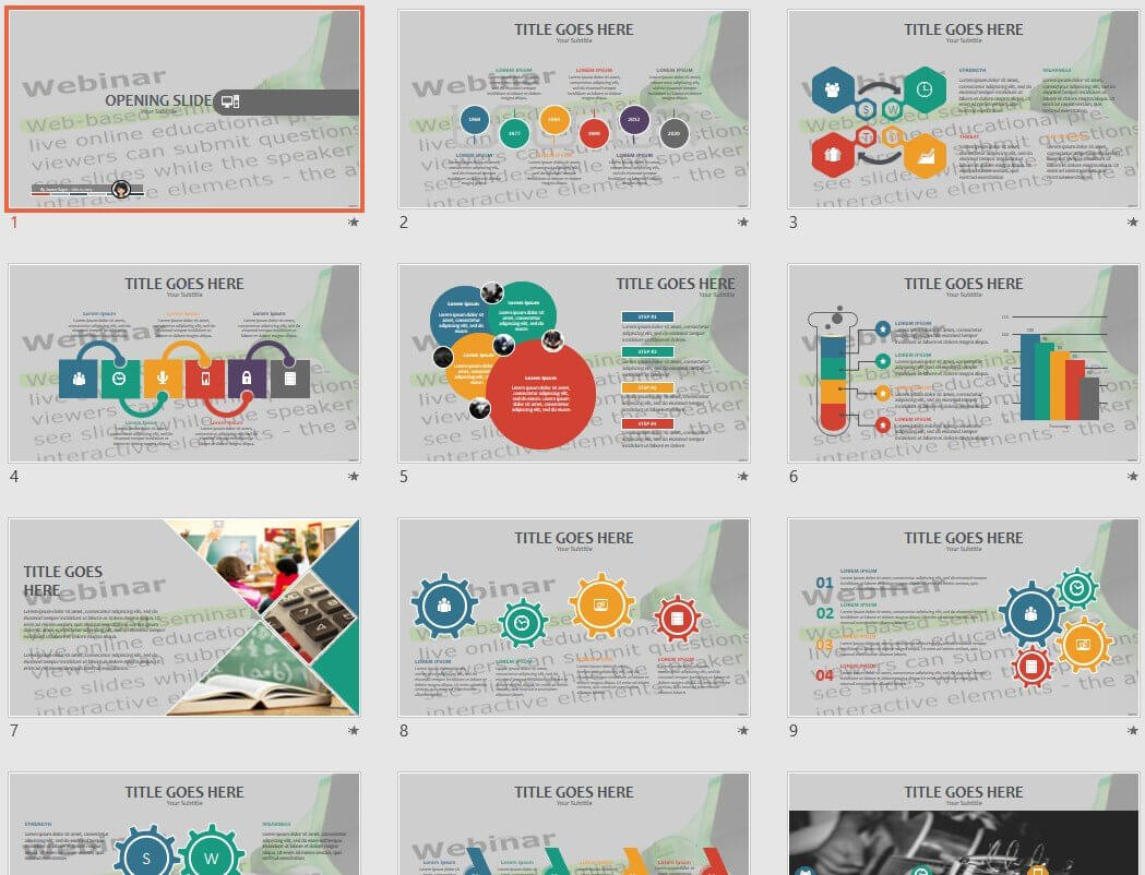 Webinar Powerpoint Template #71277 Intended For Webinar Powerpoint Templates