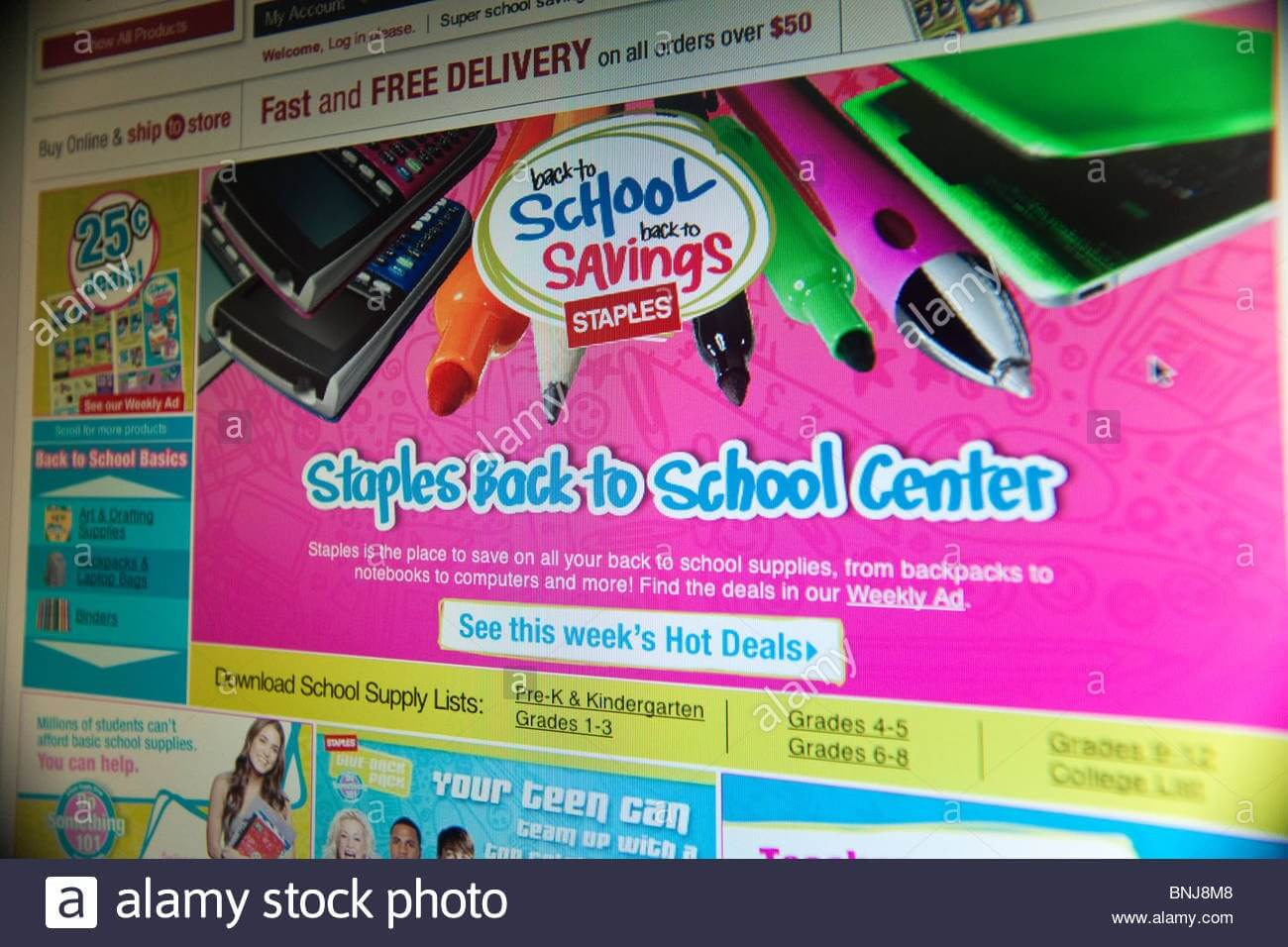 Website Banner Ads Stock Photos & Website Banner Ads Stock Intended For Staples Banner Template