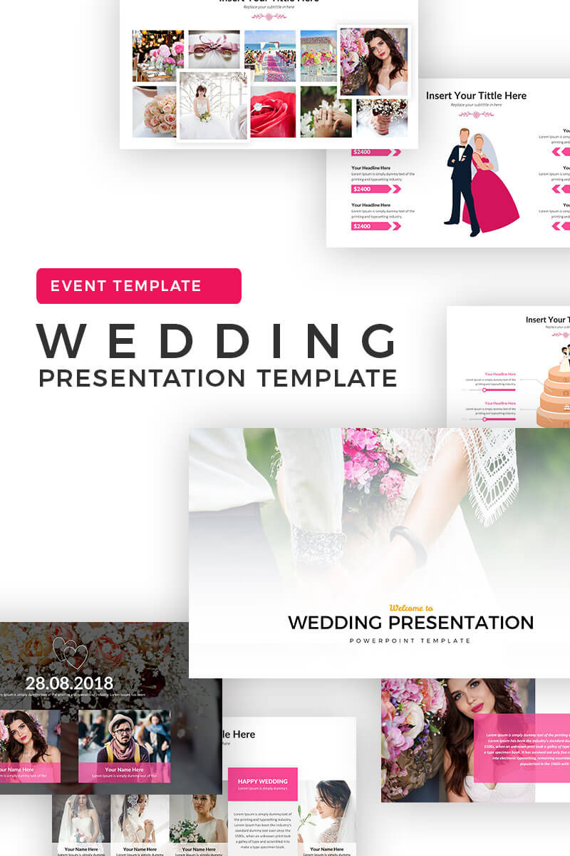 Wedding Album Ppt Templates | Templatemonster Throughout Powerpoint Photo Album Template