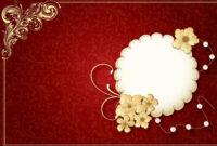 Wedding Invitation Card Template Fresh Wedding Invitation with regard to Indian Wedding Cards Design Templates
