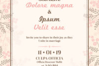 Wedding Invitation Card Template within Free E Wedding Invitation Card Templates