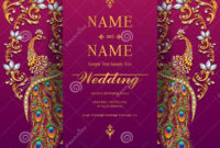 Wedding Invitation Card Templates . Stock Vector intended for Indian Wedding Cards Design Templates