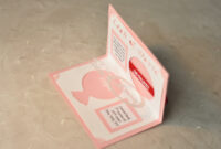 Wedding Invitation Linked Rings Pop Up Card Template inside Wedding Pop Up Card Template Free