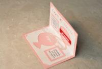 Wedding Invitation Linked Rings Pop Up Card Template within Pop Up Wedding Card Template Free