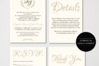 Wedding Invitation Printable/wedding Invitation Template pertaining to Wedding Card Size Template
