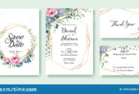 Wedding Invitation, Save The Date, Thank You, Rsvp Card in Template For Rsvp Cards For Wedding