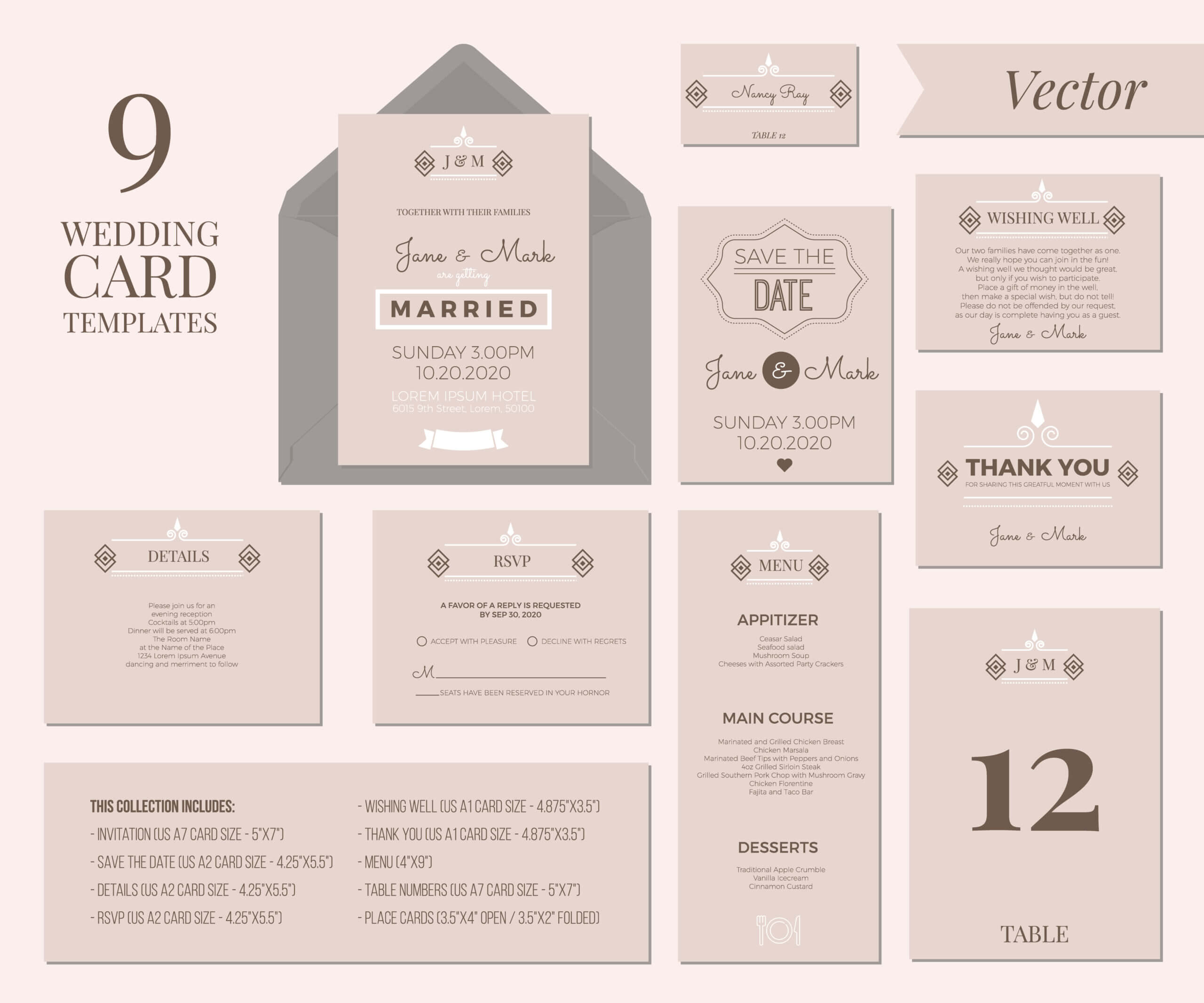 Wedding Invitation Template - Download Free Vectors, Clipart With Wedding Card Size Template