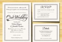 Wedding Invitation Template – Instant Download – Printable with Template For Rsvp Cards For Wedding