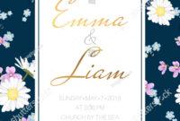 Wedding Marriage Event Invitation Card Template Stock Vector for Event Invitation Card Template