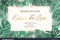 Wedding Marriage Event Invitation Card Template Stock Vector pertaining to Event Invitation Card Template