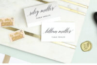 Wedding Place Card Template, Printable Escort Cards, Modern within Printable Escort Cards Template