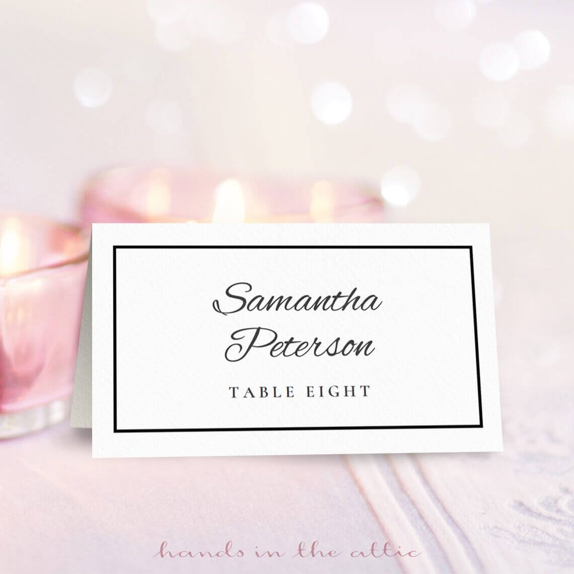 Wedding Place Card Template | Printable Place Cards, Place With Table Place Card Template Free Download