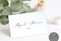 Wedding Place Cards Template, 100% Editable Wedding Seating in Printable Escort Cards Template