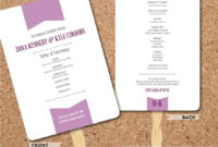Wedding Program Template – Plum Banner Fan- Diy Editable for Banner Template Word 2010