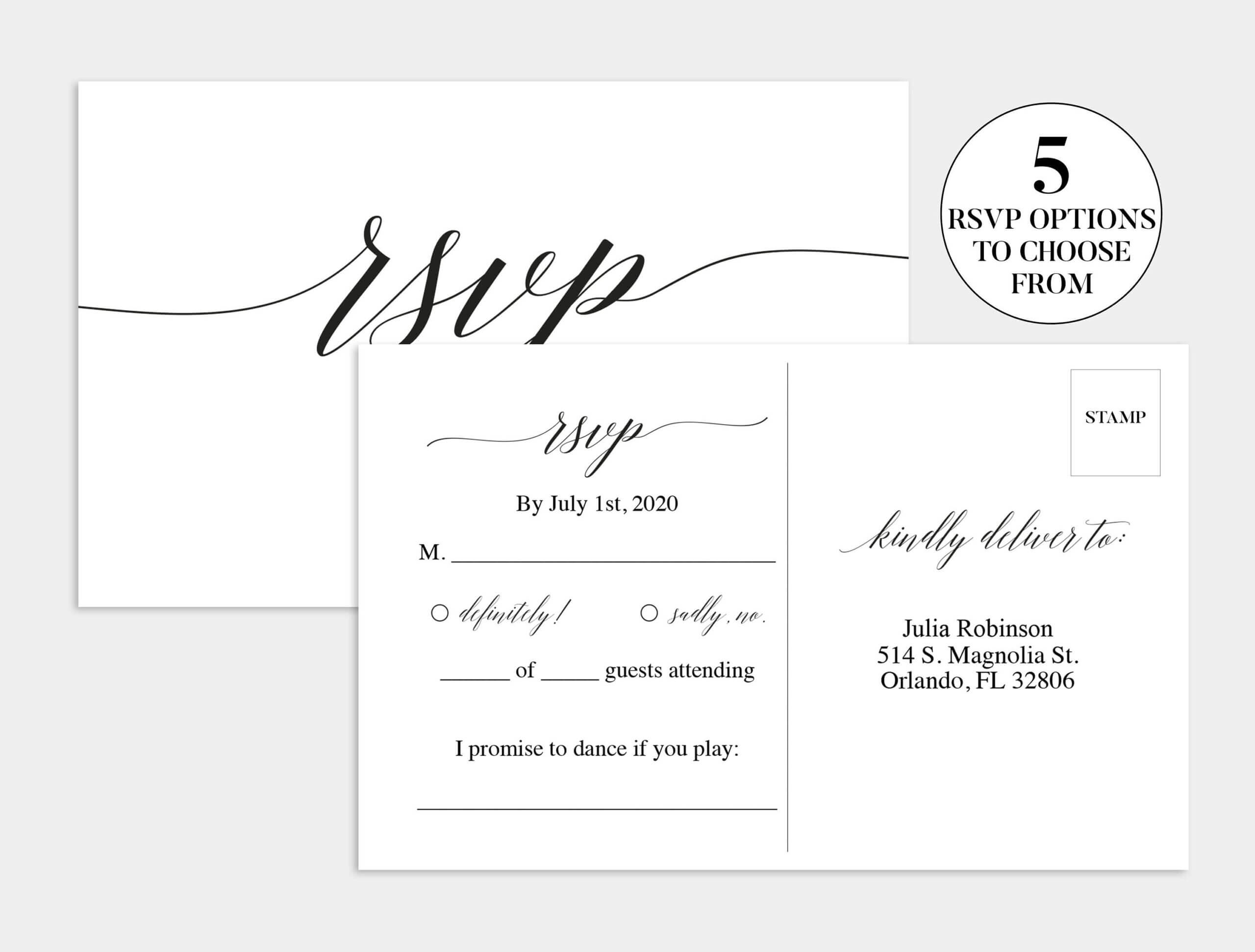 Wedding Rsvp Card   Wedding Rsvp Template   Wedding Rsvp Within Template For Rsvp Cards For Wedding