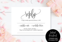 Wedding Rsvp Cards, Wedding Reply Attendance Acceptance regarding Death Anniversary Cards Templates