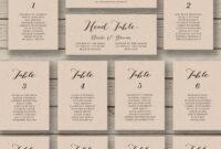 Wedding Seating Chart Template – Printable Seating Chart Throughout Wedding Seating Chart Template Word