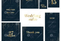 Wedding Suite Collection Card Templates Stock Vector for Celebrate It Templates Place Cards