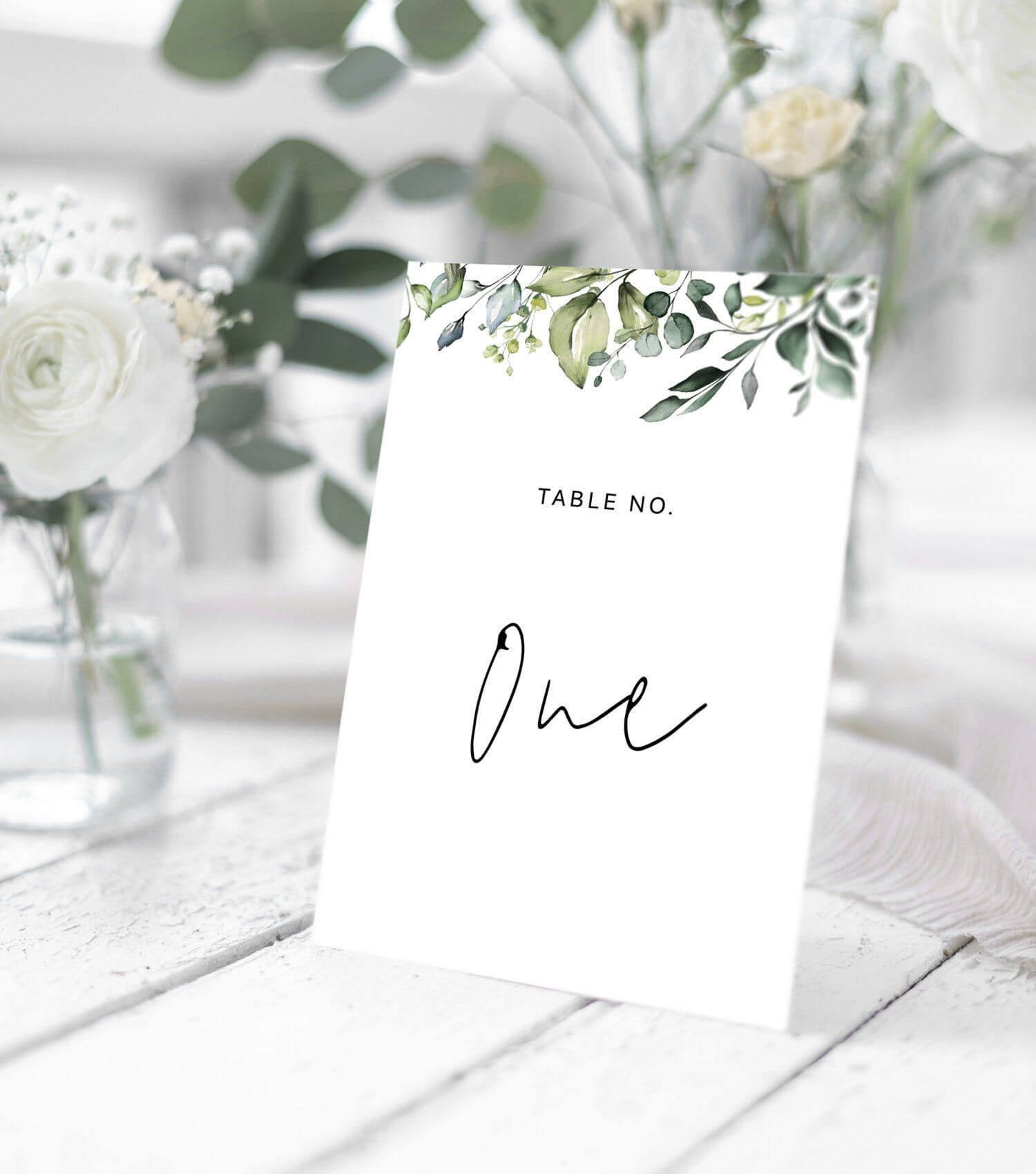 Wedding Table Number Card Template With Hand Painted In Table Number Cards Template