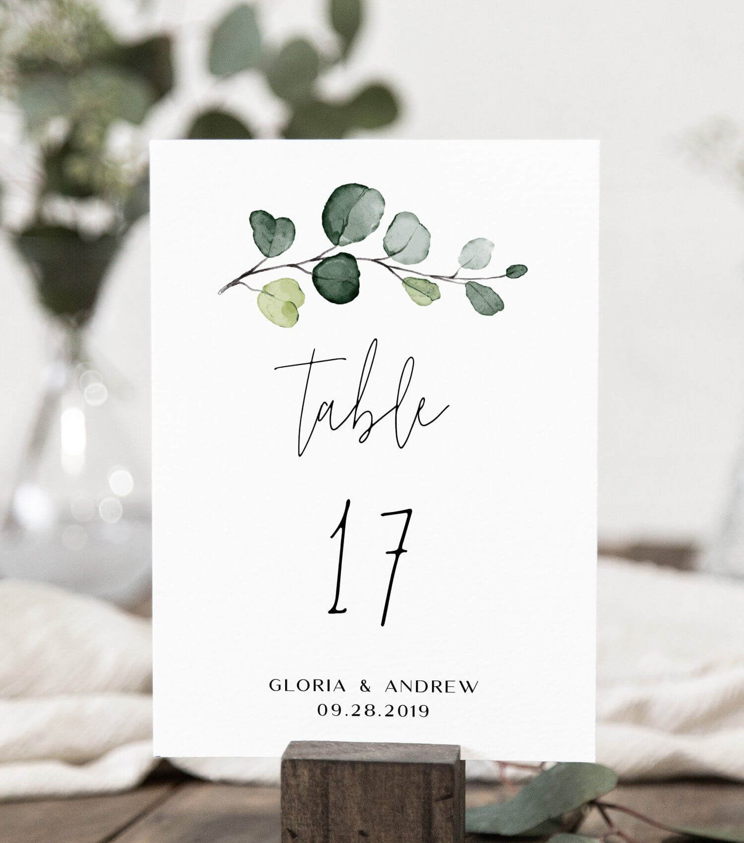 Wedding Table Number Card Template With Hand Painted With Table Number Cards Template
