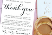 Wedding Thank You Card Template Free Download – 21+ Wedding within Template For Wedding Thank You Cards
