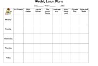 Weekly Lesson Plan | Preschool Lesson Plan Template, Weekly for Blank Preschool Lesson Plan Template