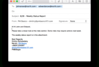 Weekly Project Status Report That Works (+Template with regard to Project Status Report Email Template