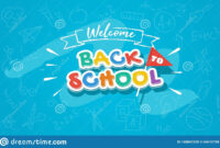 Welcome Back To School Colorful Banner Template For Web with Welcome Banner Template