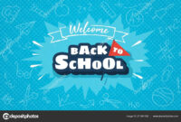 Welcome Back To School Horizontal Banner Template For Web intended for Welcome Banner Template